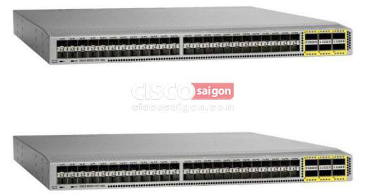 Cisco N3K-C3172PQ-10GE Switch Nexus 3172P Chassis, 48 x SFP+ and 6 QSFP+ ports
