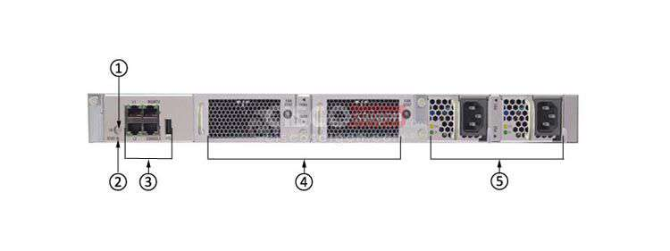 Mặt sau Switch Cisco N5K-C5548UP-FA