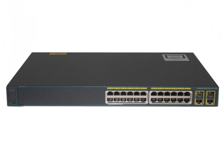 Switch Cisco WS-C2960+24PC-L catalyst 2960 Plus 24 Port 10/100 PoE + 2 T/SFP LAN Base