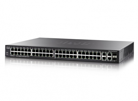 Cisco SG350-52P 48 10/100/1000 ports + 2 Gigabit copper/SFP combo + 2 SFP ports