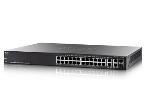 Cisco SG350-28MP 28-port Gigabit POE Managed Switch + 2 Gigabit copper/SFP combo + 2 SFP ports