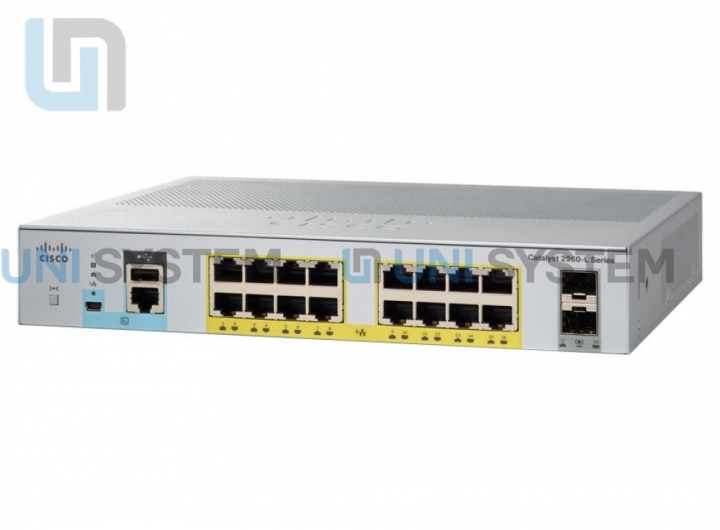 Cisco WS-C2960L-SM-8PS Catalyst 2960L 8 port 10/100/1000 PoE+ 67W, 2 x 1G SFP LAN Lite