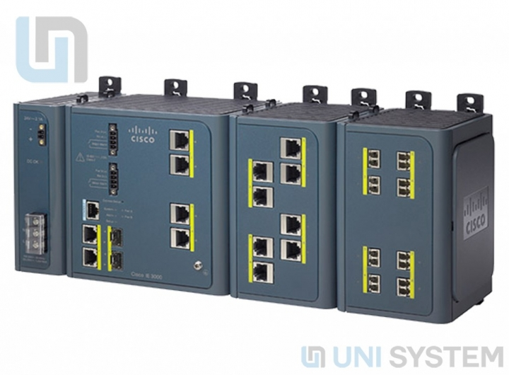 Cisco IE 3000 Switch, 4 10/100 + 2 T/SFP
