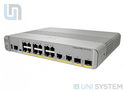 3560-CX Switch 8 GE PoE+, uplinks: 2 x 1G SFP & 2 x 1G copper, IP Base