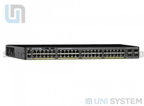 WS-C2960X-48LPS-L Cisco Catalyst 2960-X 48 GigE PoE 370W, 4 x 1G SFP, LAN Base