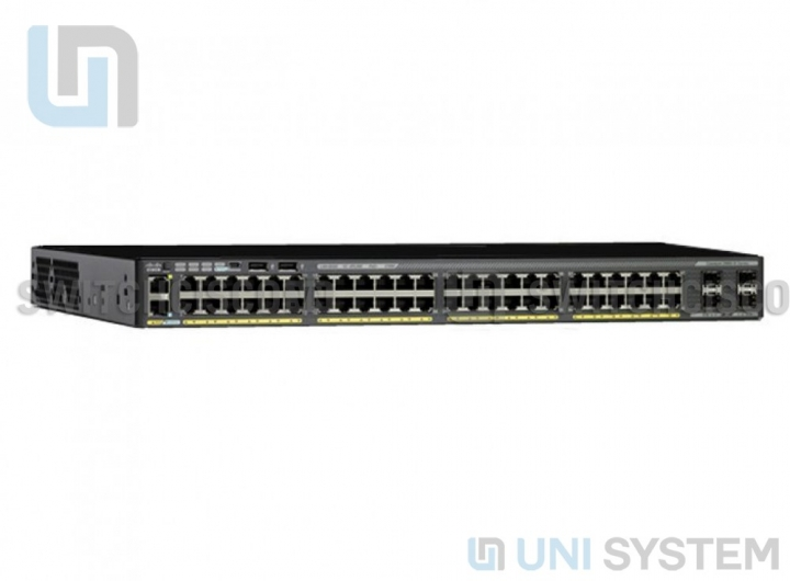 WS-C2960X-48LPS-L Cisco Catalyst 2960-X 48 GigE PoE 370W, 4 x 1G SFP, LAN Base