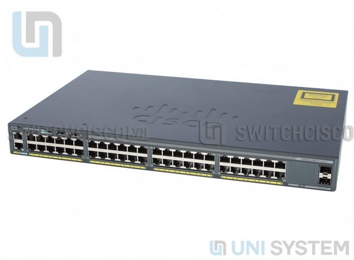 WS-C2960X-48TD-L Cisco Catalyst 2960-X 48 GigE, 2 x 10G SFP+, LAN Base