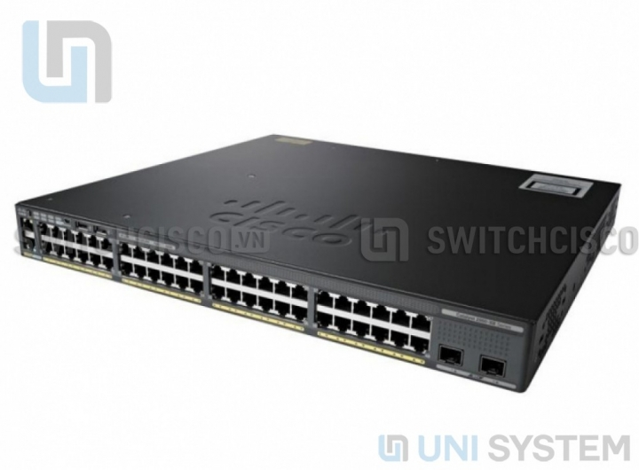 WS-C2960X-48LPD-L Cisco Catalyst 2960-X 48 GigE PoE 370W, 2 x 10G SFP+ LAN Base