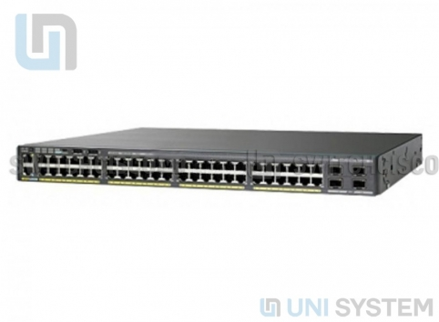 WS-C2960XR-48TS-I Cisco Catalyst 2960-XR 48 GigE, 4 x 1G SFP, IP Lite