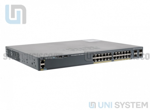 WS-C2960X-24PS-L Catalyst 2960-X 24 GigE PoE 370W, 4 x 1G SFP, LAN Base