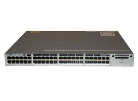 WS-C3850-48T-S Cisco Catalyst C3850 Layer 3 48 port 10/100/1000 IP Base managed stackable